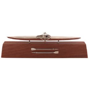 Sterling Silver Boats on Wood Plinth
